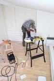 Carpenter hard at work — Stock Photo