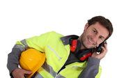 Constructeur sur téléphone mobile — Photo
