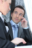 Woman attracted by her boss — Stock Photo