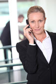 Businesswoman on the phone — Stock Photo
