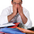 Office worker working overtime — Stock Photo #7780820