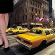 Yellow taxi — Stockfoto