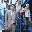College students and young professor — Stock Photo #7783074