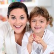 Portrait of a woman and little girl — Stock Photo #7783135