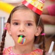 Stock Photo: Young girl at a child's birthday party