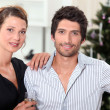 Couple at Christmas — Stock Photo