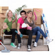 Stock Photo: Young moving home