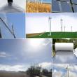 Solar panels and windmills — Stock Photo