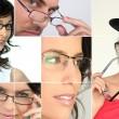 uomini e donne che indossano occhiali — Foto Stock