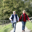 Couple walking along footpath — Stock Photo #7788696