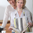 Stock Photo: Couple cooking