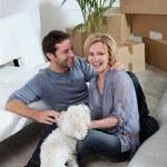 Couple with dog — Stock Photo #7789181