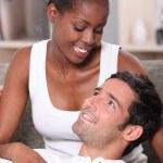Interracial couple — Stock Photo