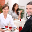 Couple dining — Stockfoto #7789510