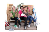 Young moving home — Stock Photo