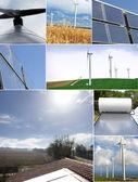 Solar panels and windmills — ストック写真