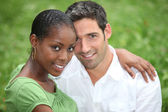 Interracial couple — Stock Photo