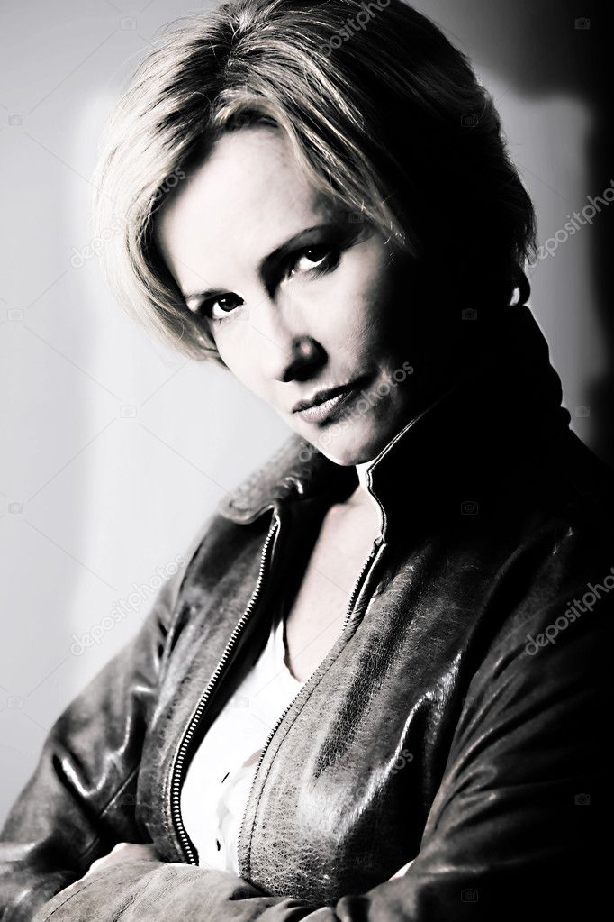Black and white portrait of woman  Stock Photo #7780922
