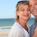 Happy couple at the beach — Stock Photo #7791356