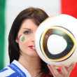 Stock Photo: Italifootball fan