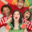 Portuguese soccer fans — Stock Photo #7791723