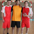 3 handball players — Stock Photo #7791769