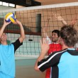 Players on volleyball court — Stock Photo #7791791
