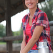 Portrait of a woman in a farm — Stock Photo #7792774