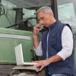 Modern farmer — Stock Photo