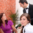 Women eating in a restaurant — Stock Photo #7794650