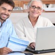 Happy learning at home — Stock Photo