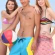 Teenagers on a beach — Stock Photo