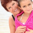Stock Photo: Grandmother and granddaughter