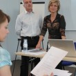 Stock Photo: Teachers supervising exam