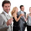 Couples partying — Stock Photo