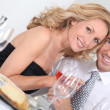 Couple at table — Stock Photo