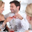 Stock Photo: Couple celebrating