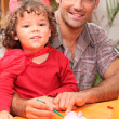 Father spending time with his little girl — Stock Photo #7799681