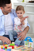 Father playing with his little girl — Stock Photo