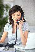 Female receptionist — Stock Photo