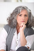 Portrait of an older woman — Stock Photo