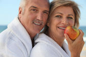 A couple on vacation — Stock Photo