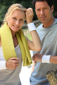 Couple resting after sport — Stock Photo