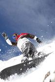 滑雪板喷涂粉末 — 图库照片