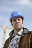 Construction site foreman — Stock Photo
