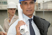 Architects on site — Stock Photo