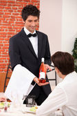 Sommelier presenting a wine — Stock Photo
