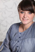 Portrait of young brown-haired girl — Stock Photo