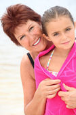 Grandmother and granddaughter — Foto de Stock
