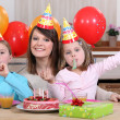 Stock Photo: Child's birthday party